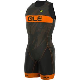 Alé Cycling Triathlon Olympic Record Tri Body Achterrits Heren, black-fluo orange